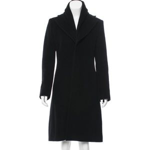 Jean Paul Gaultier Angora-Blend Coat Shawl Collar